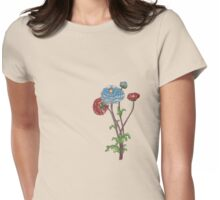 flower art 1 dull yellow Womens Fitted T-Shirt