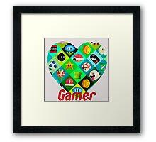 gamer world Framed Print