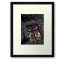 A typical window Framed Print