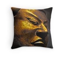 The Angry Buddha Throw Pillow