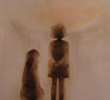 me and my dog by Tokiko Anderson by TokikoAnderson