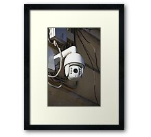 Camera outdoor surveillance Framed Print