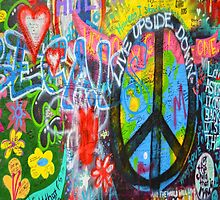 Graffiti Peace Wall by Delights