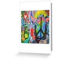 Graffiti Peace Wall Greeting Card