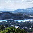 The Panama Canal and the Bridge of the Americas by Bernai Velarde