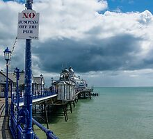 No jumping off the pier by Mark Bangert