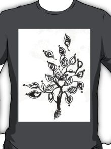 Tree With Leaves Drawing T-Shirt