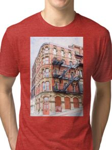 Old Brick Building Tri-blend T-Shirt