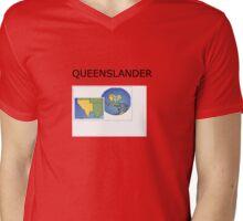 QUEENSLANDER Mens V-Neck T-Shirt