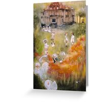 Over the River and through the Wood  by Tokiko Anderson Greeting Card