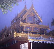 Wat at Mae Hong Son, Thailand. by Peter Stephenson