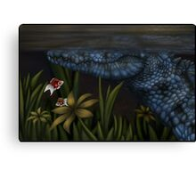 There's Something Lurking In The Rushes Canvas Print