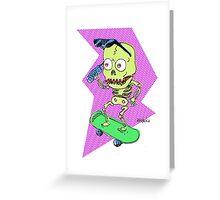 SKELETON LIFE Greeting Card