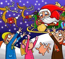 Santa Claus illustration by Monika Vass