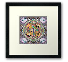 Phineas and Ferb Mandala Framed Print
