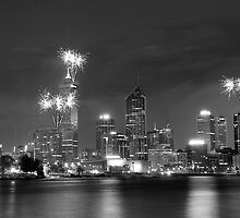 Perth Fireworks by Michael Bates