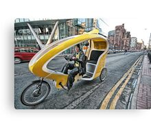 Cycle Taxi Canvas Print