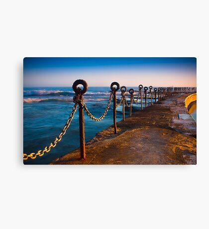 Ocean Baths Newcastle Canvas Print