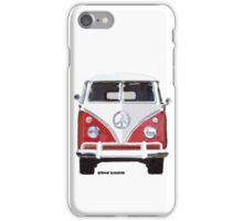 Splitty VW Bus Front Red iPhone Case/Skin