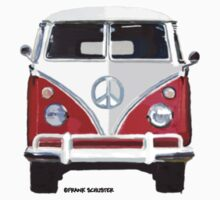 Splitty VW Bus Front Red by Frank Schuster