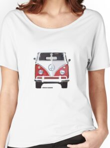 Splitty VW Bus Front Red Women's Relaxed Fit T-Shirt
