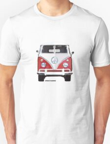 Splitty VW Bus Front Red T-Shirt