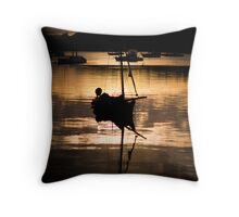 Yacht, Bay of Islands Throw Pillow