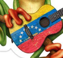 Tree Frog Playing Venezuelan Flag Guitar Sticker