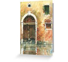 Old Door Venice Greeting Card