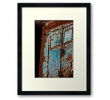 Bespectacled Rusty Truck Face Framed Print
