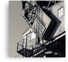 Docklands Crane Canvas Print