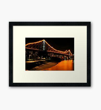Golden Crossing Framed Print