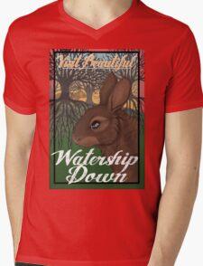 Visit Beautiful Watership Down Mens V-Neck T-Shirt