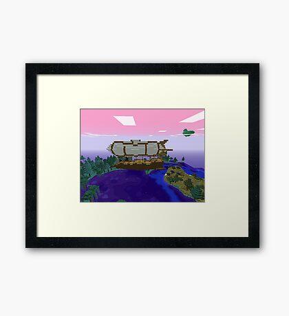 Minecraft Zeppelin Framed Print