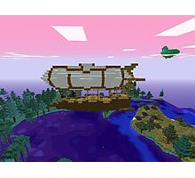 Minecraft Zeppelin Photographic Print