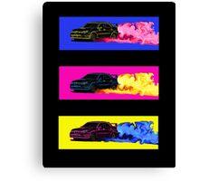 Subaru STi Drift Print Canvas Print