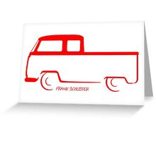 VW Bay Window Shape Crew Cab Greeting Card