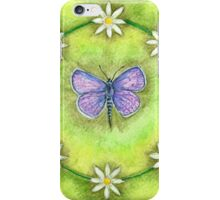 Green Daisy Butterfly iPhone Case/Skin