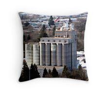 Grain Millers Inc. 20-silo Mill  Throw Pillow