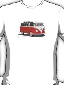 21 Window VW Bus Red/White  T-Shirt