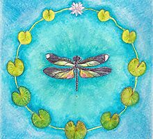 Turquoise Dragonfly by Jacquiderose