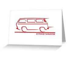 Speedy VW Vanagon Caravelle Transporter Greeting Card