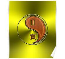 Gemini & Tiger Yang Wood Poster