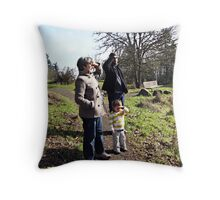 Saluting the View From Skinner Butte Throw Pillow