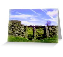Dartmoor Gate Greeting Card