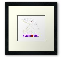Jurassic World - Cleverer Girl Framed Print