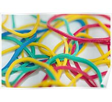 Assorted Rubber Band Background Poster
