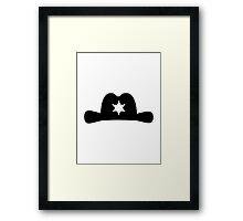 Sheriff hat Framed Print
