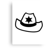 Sheriff hat star Canvas Print