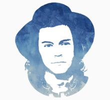 Harry Styles Watercolor Blue by sandracbt
